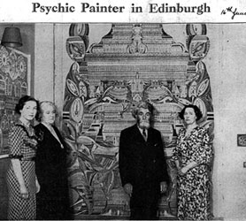 Psychic painter in Edinburgh