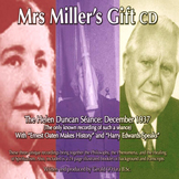 Mrs Miller's Gift (CD) The Helen Duncan Séance December 1937